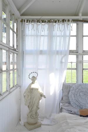 Exquisite White Gauze Curtain