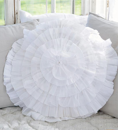 Romantic Ruffled Pillow Cover