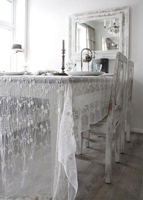 Jeanne d Arc Living Tablecloth Tulle Off White
