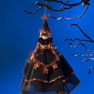 Halloween Witch Ornament Masked