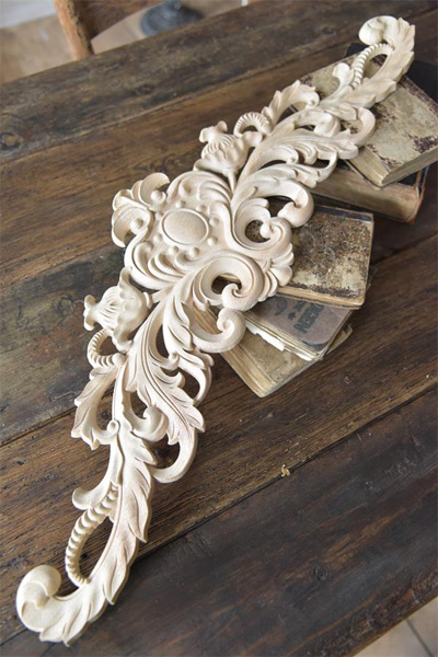 Architectural Element Wood Carving Decoration
