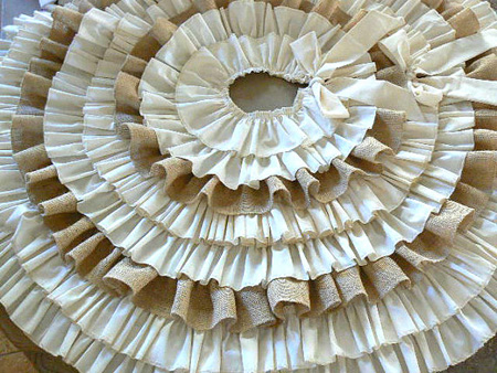 Burlap And Ruffles Tree Skirt