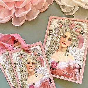Marie Antoinette French Pink Roses Set