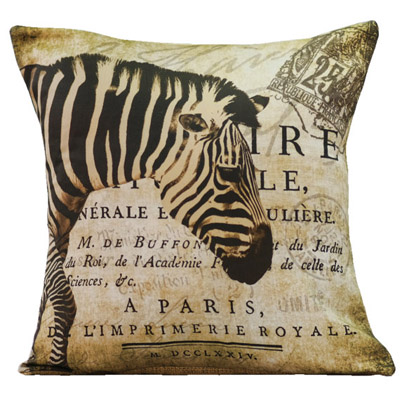 French Safari Pillow Slip