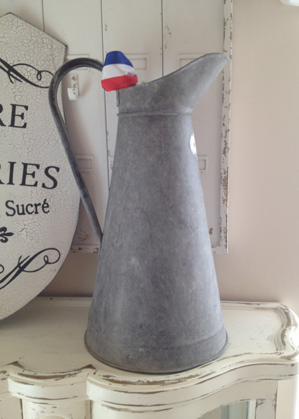Zinc French Antique Pitcher