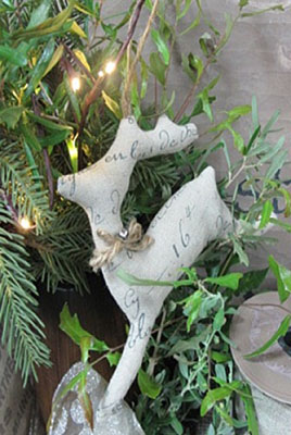French Stag Ornament