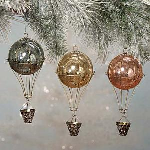 French Hot Air Balloon Ornaments