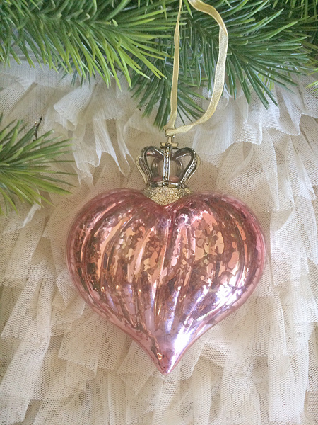 Crowned Heart Ornament II