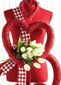 French Ribbon Red And White